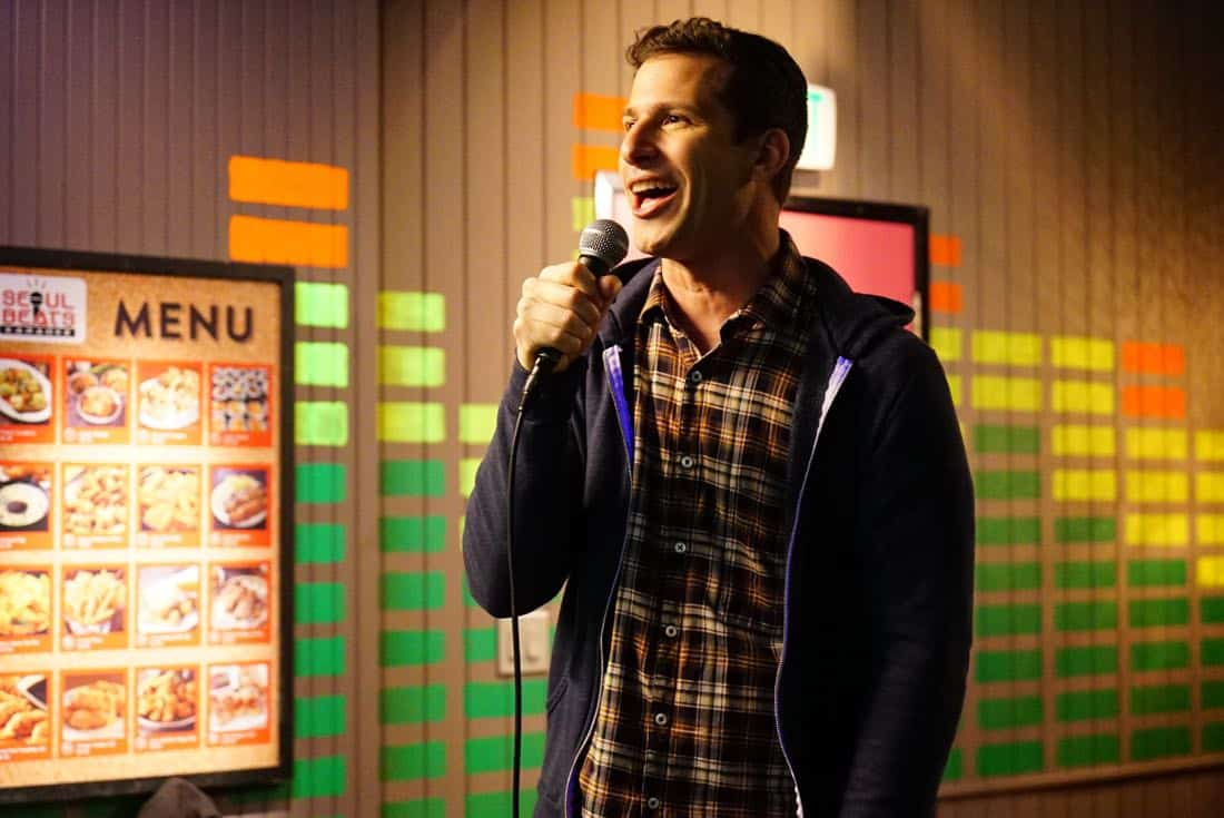 "BROOKLYN NINE-NINE: Andy Samberg in the ""The Negotiation"" episode of BROOKLYN NINE-NINE airing Sunday, March 25 (8:30-9:00 PM ET/PT) on FOX.CR: FOX"