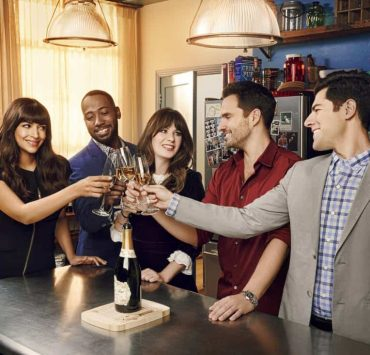 NEW GIRL: L-R: Hannah Simone, Lamorne Morris, Zooey Deschanel, Jake Johnson and Max Greenfield in the season seven premiere of NEW GIRL airing Tuesday, April 10 (9:30-10:00 PM ET/PT) on FOX. ©2018 Fox Broadcasting Co. Cr: Jeff Lipsky/FOX