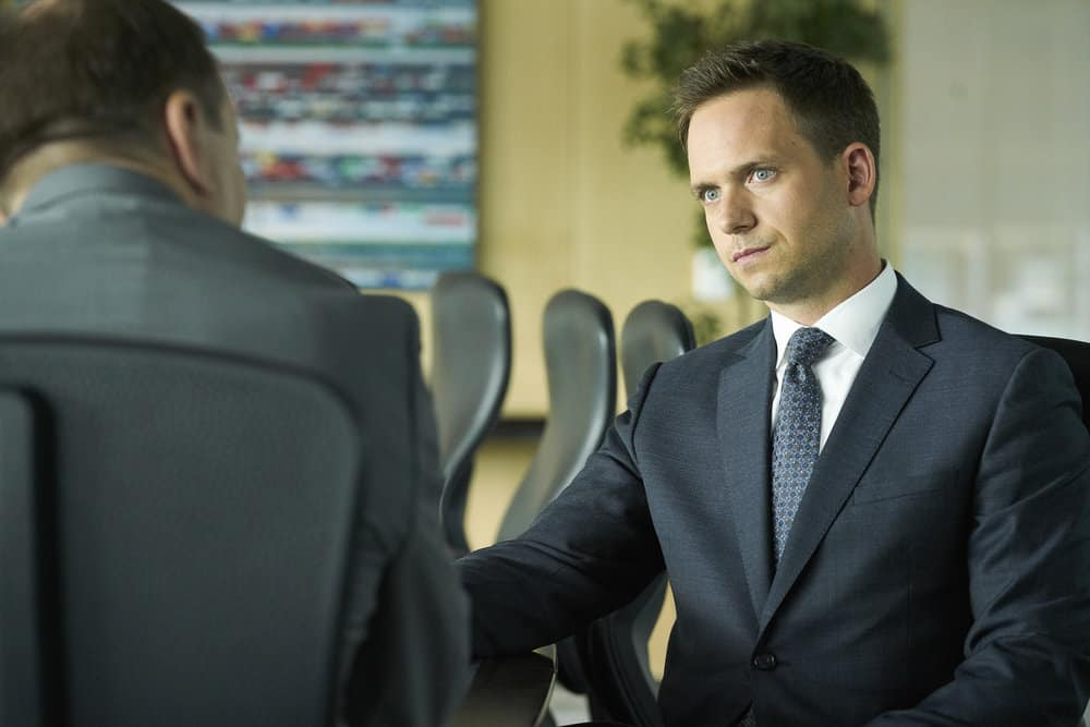 SUITS -- Episode 711 -- Pictured: (l-r) -- (Photo by: Ian Watson/USA Network)