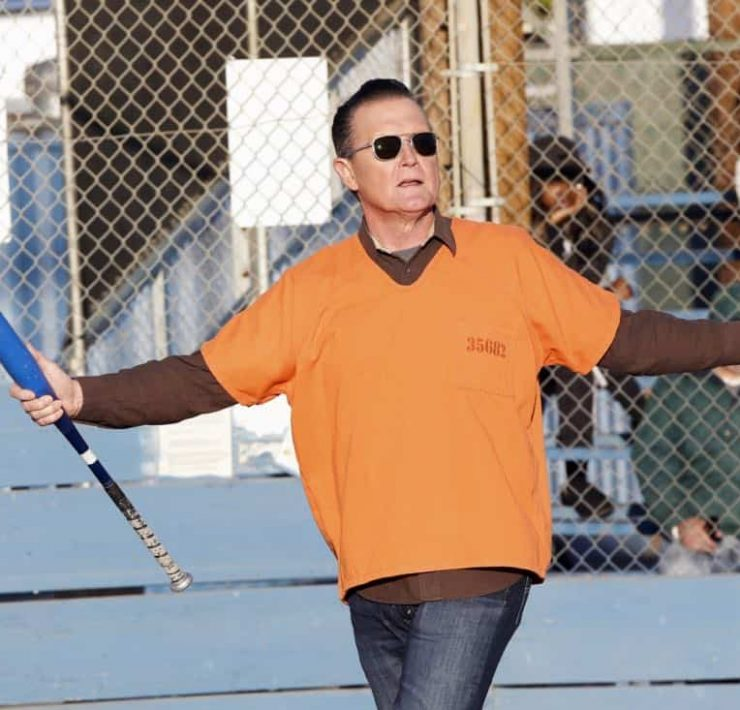 """Foul Balls"" -- Team Scorpion must use their high IQs to win a softball game when the homeland director challenges, with all of their future government contracts on the line. Also, WalterÕs secret night out with Florence puts Toby and Happy on edge, on SCORPION, Monday, March 26 (10:00-11:00 PM, ET/PT) on the CBS Television Network. Pictured: Robert Patrick. Photo: Cliff Lipson/CBS ©2018 CBS Broadcasting, Inc. All Rights Reserved"