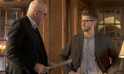 "BLINDSPOT -- ""Artful Dodge"" Episode 316 -- Pictured: (l-r) David Morse as Hank Crawford, Luke Mitchell as Roman -- (Photo by: David Giesbrecht/NBC/Warner Bros)"