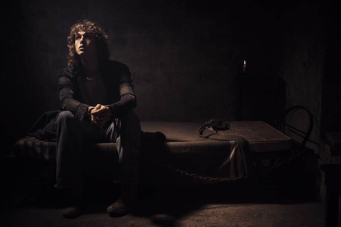 TRUST -- Pictured: Harris Dickinson as J. Paul Getty, III. CR: Kurt Iswarienko/FX