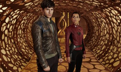 KRYPTON -- Season:1 -- Pictured: (l-r) Cameron Cuffe as Seg-El, Georgina Campbell as Lyta-Zod -- (Photo by: Gavin Bond/Syfy)
