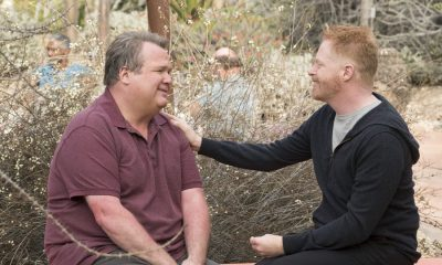 "MODERN FAMILY - ""Royal Visit"" - Haley's brilliant astrophysicist boyfriend (guest star Chris Geere) comes to meet the family, setting Claire and Phil off in a competition about which one of them is smarter, making Alex feel self-conscious about her dim but handsome firefighter boyfriend, Bill (Jimmy Tatro). Mitch and Cam go on a yoga retreat, but when Cam finds out his dream team, the Kansas City Royals, is having spring training next door, he can't resist sneaking out, on ""Modern Family,"" WEDNESDAY, MARCH 28 (9:00-9:31 p.m. EDT), on The ABC Television Network. (ABC/Ron Tom) ERIC STONESTREET, JESSE TYLER FERGUSON"