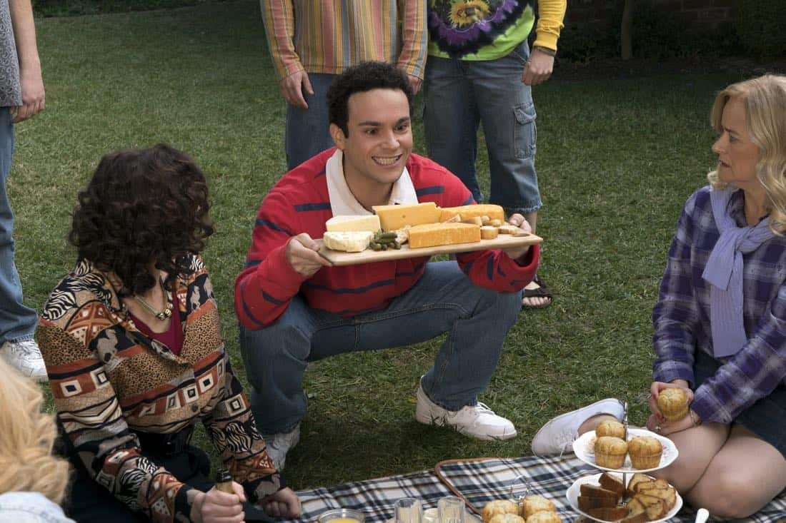 """THE GOLDBERGS - """"Colors"""" - Barry enlists the JTP to help him break up Beverly's group of friends so Barry can have all the attention but soon realizes he made a major mistake when Beverly gets into a fight with her friends. Meanwhile, Adam's attempts to trick Murray into loving theater backfire, on """"The Goldbergs,"""" WEDNESDAY, MARCH 28 (8:00-8:30 p.m. EDT), on The ABC Television Network. (ABC/Byron Cohen) TROY GENTILE, JENNIFER IRWIN"""