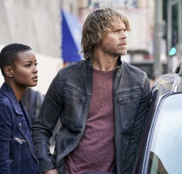 """""""The Monster"""" - Pictured: Andrea Bordeaux (NCIS Special Agent Harley Hidoko) and Eric Christian Olsen (LAPD Liaison Marty Deeks). While investigating a missing personÕs case, the team uncovers a killer who puts on shows for high-paying voyeurs. Also, Mosley assigns Callen as her partner on a joint ATF mission to apprehend someone from her past, on NCIS: LOS ANGELES, Sunday, April 1 (9:00-10:00 PM, ET/PT) on the CBS Television Network. Photo: Ron P. Jaffe/CBS ©2018 CBS Broadcasting, Inc. All Rights Reserved."""