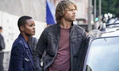 """The Monster"" - Pictured: Andrea Bordeaux (NCIS Special Agent Harley Hidoko) and Eric Christian Olsen (LAPD Liaison Marty Deeks). While investigating a missing personÕs case, the team uncovers a killer who puts on shows for high-paying voyeurs. Also, Mosley assigns Callen as her partner on a joint ATF mission to apprehend someone from her past, on NCIS: LOS ANGELES, Sunday, April 1 (9:00-10:00 PM, ET/PT) on the CBS Television Network. Photo: Ron P. Jaffe/CBS ©2018 CBS Broadcasting, Inc. All Rights Reserved."