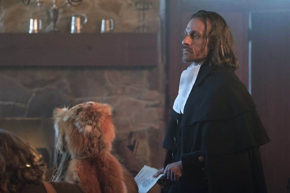 "TIMELESS -- ""The Salem Witch Hunt"" Episode 204 -- Pictured: Henri Lubatti as Judge Hathorne -- (Photo by: Patrick Wymore/NBC)"