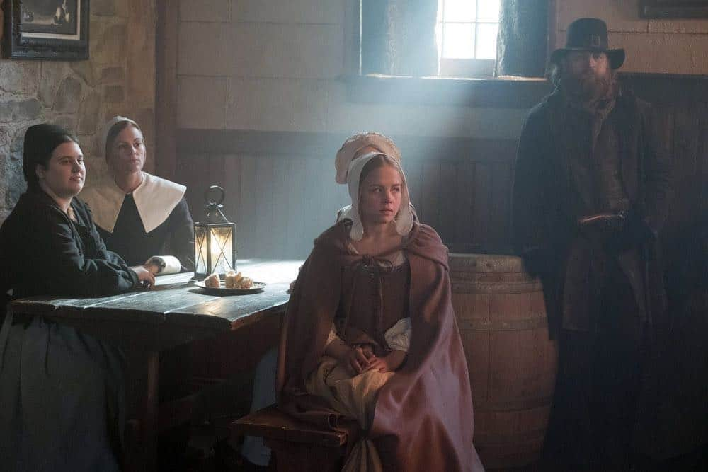 "TIMELESS -- ""The Salem Witch Hunt"" Episode 204 -- Pictured: Sofia Vassilieva as Abiah -- (Photo by: Patrick Wymore/NBC)"