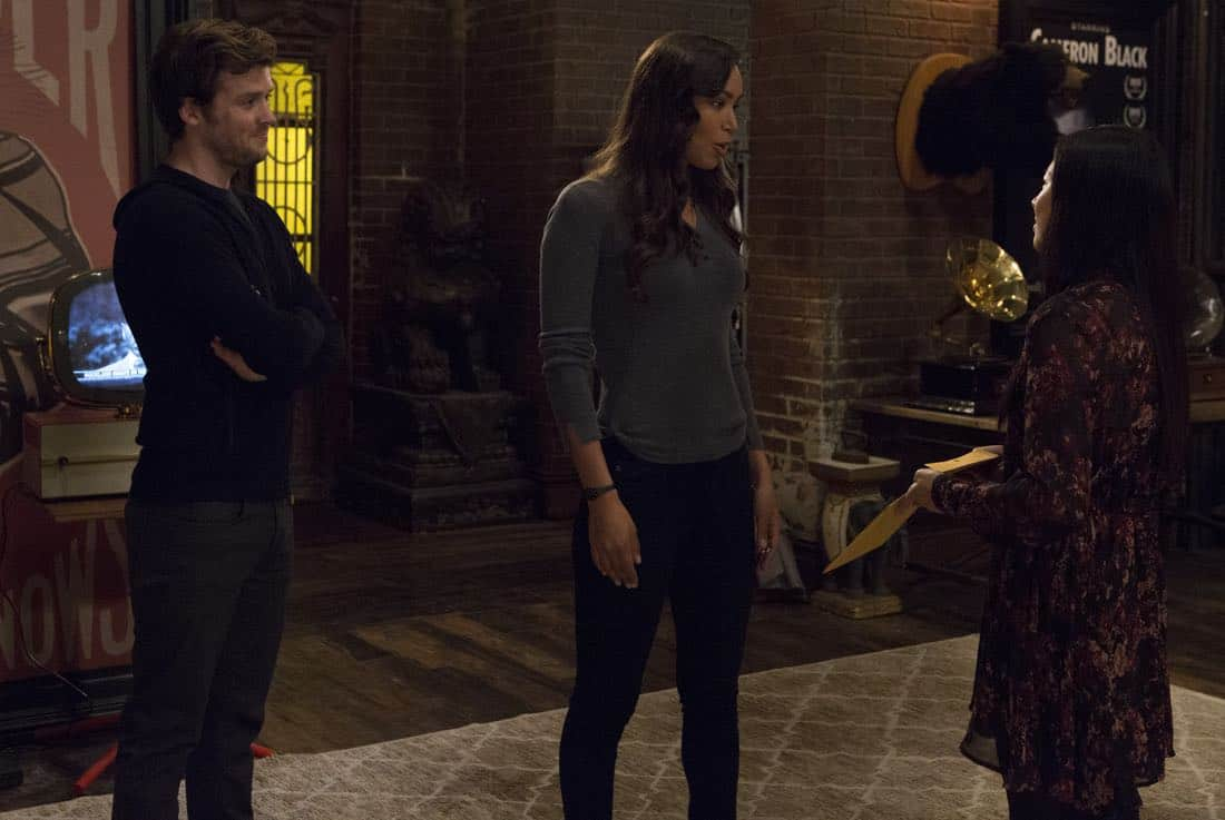"DECEPTION - ""Divination"" - When a psychic is murdered, Kay and Cam investigate only to learn she had a partner who's now on the run. Enlisting her help, Cameron and the team take down an international arms dealer, on ""Deception,"" airing SUNDAY, APRIL 1 (10:01-11:00 p.m. EDT), on The ABC Television Network. (ABC/Giovanni Rufino) JACK CUTMORE, ILFENESH HADERA, CHRISTINE KO"