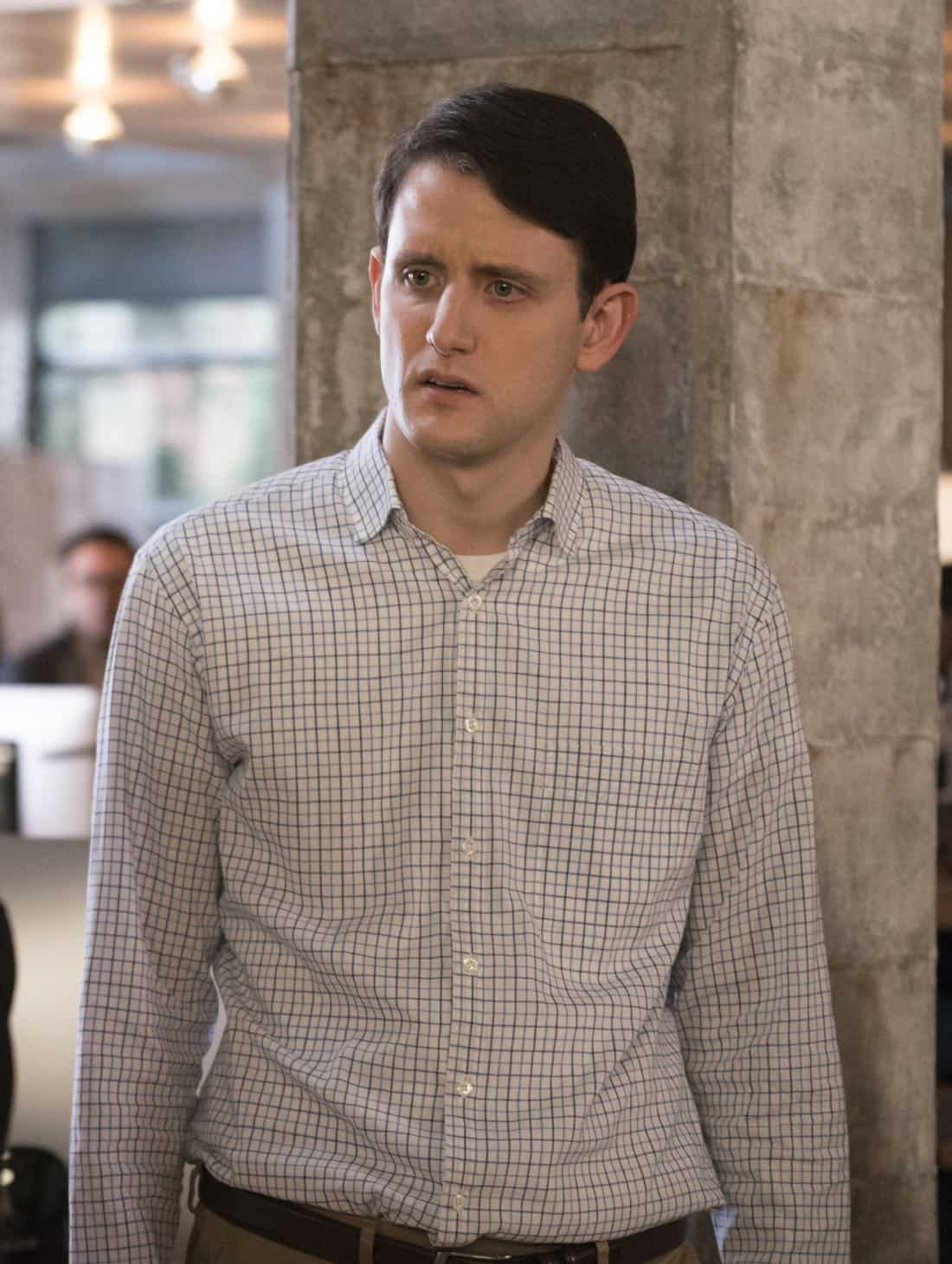 Episode 40 (season 5, episode 2), debut 4/1/18: Zach Woods. photo: Ali Paige Goldstein/HBO