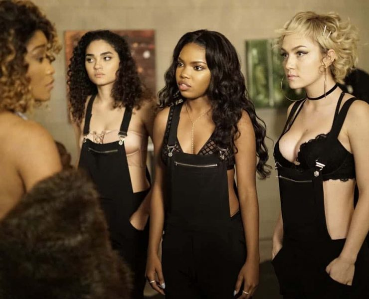 """STAR: Pictured L-R: Guest star Keke Palmer, Brittany O'Grady, Ryan Destiny and Jude Demorest in the """"Rise from the Ashes """" Spring premiere episode of STAR airing Wednesday, March 28 (9:00-10:00 PM ET/PT) on FOX. ©2018 Fox Broadcasting Co. CR: Jace Downs/FOX"""