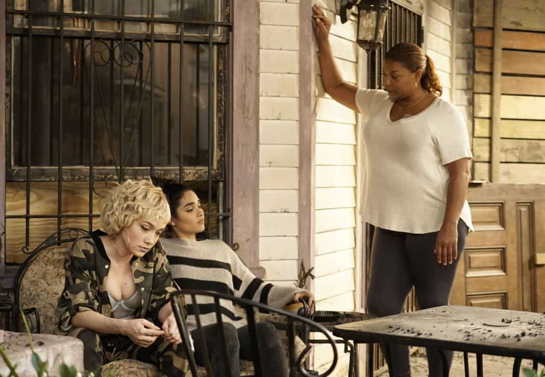 """STAR: Pictured L-R: Jude Demorest, Brittany O'Grady and Queen Latifah in the """"Rise from the Ashes """" Spring premiere episode of STAR airing Wednesday, March 28 (9:00-10:00 PM ET/PT) on FOX. ©2018 Fox Broadcasting Co. CR: Jace Downs/FOX"""