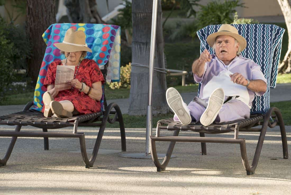 """THE GOLDBERGS - """"MTV Spring Break"""" - Hoping to get the true spring break experience, Erica and Barry visit Pops in Florida, yet it's nothing how they expected. Meanwhile, Adam tells the truth to Beverly and Murray but then gets a surprising reaction, on """"The Goldbergs,"""" WEDNESDAY, APRIL 4 (8:00-8:30 p.m. EDT), on The ABC Television Network. (ABC/Ron Tom) SHELLY KURTZ"""