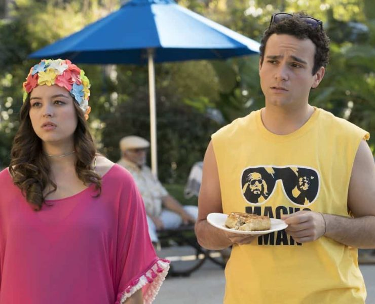 """THE GOLDBERGS - """"MTV Spring Break"""" - Hoping to get the true spring break experience, Erica and Barry visit Pops in Florida, yet it's nothing how they expected. Meanwhile, Adam tells the truth to Beverly and Murray but then gets a surprising reaction, on """"The Goldbergs,"""" WEDNESDAY, APRIL 4 (8:00-8:30 p.m. EDT), on The ABC Television Network. (ABC/Ron Tom) HAYLEY ORRANTIA, TROY GENTILE"""