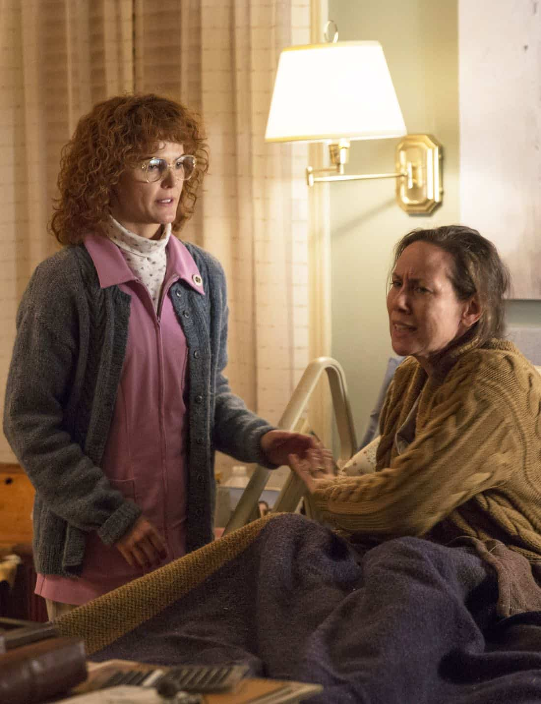 "THE AMERICANS -- ""Tchaikovsky"" -- Season 6, Episode 2 (Airs Wednesday, April 4, 10:00 pm/ep) -- Pictured: (l-r) Keri Russell as Elizabeth Jennings, Miriam Shor as Erica. CR: Patrick Harbron/FX"