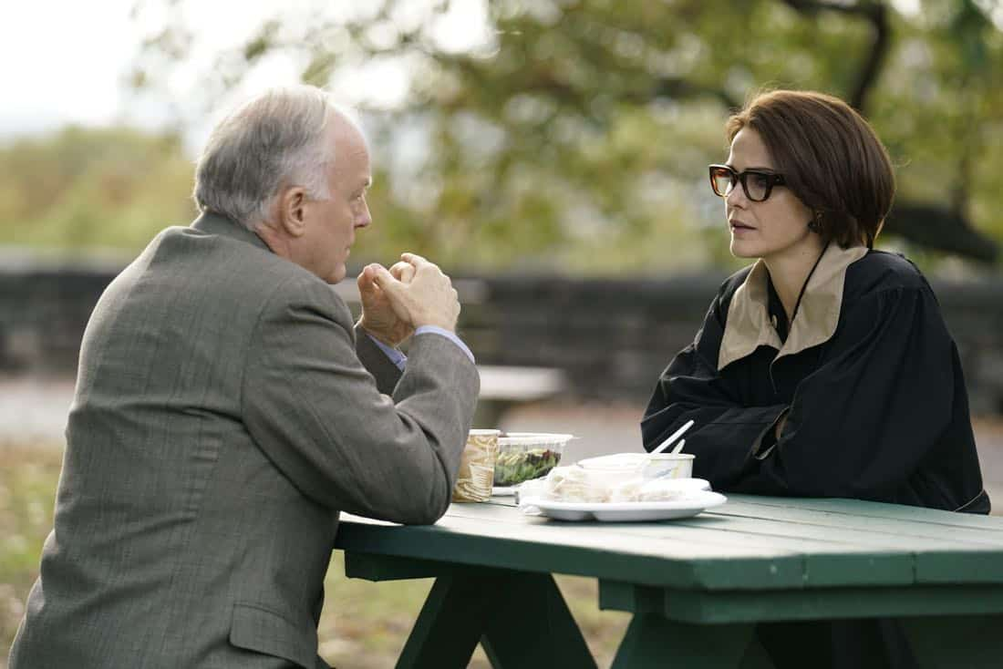 "THE AMERICANS -- ""Tchaikovsky"" -- Season 6, Episode 2 (Airs Wednesday, April 4, 10:00 pm/ep) -- Pictured: (l-r) Reed Birney as McCleesh, Keri Russell as Elizabeth Jennings. CR: Patrick Harbron/FX"