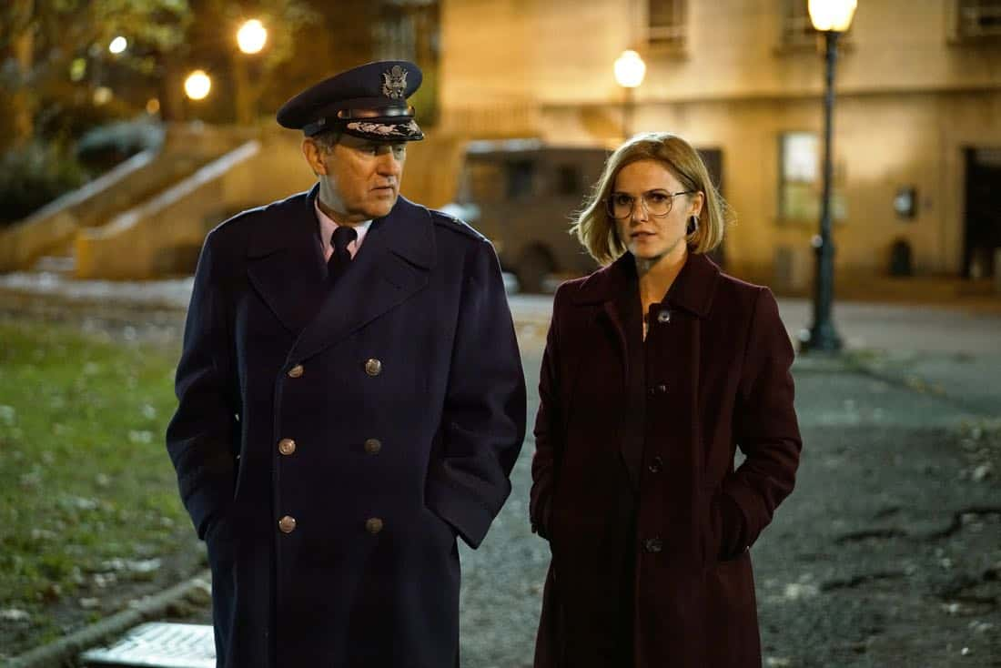 "THE AMERICANS -- ""Tchaikovsky"" -- Season 6, Episode 2 (Airs Wednesday, April 4, 10:00 pm/ep) -- Pictured: (l-r) Victor Slezak as Rennhull, Keri Russell as Elizabeth Jennings. CR: Patrick Harbron/FX"