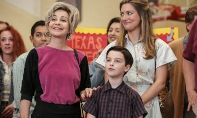 """Killer Asteroids, Oklahoma, and a Frizzy Hair Machine"" - Pictured: Meemaw (Annie Potts), Sheldon (Iain Armitage) and Mary (Zoe Perry). A disappointing loss at the science fair sends SheldonÕs life in a new direction, on YOUNG SHELDON, Thursday, March 29 (8:31-9:01 PM, ET/PT) on the CBS Television Network. Jason Alexander guest stars as SheldonÕs drama teacher, Mr. Lundy. Photo: Michael Yarish/CBS ©2018 CBS Broadcasting, Inc. All Rights Reserved."