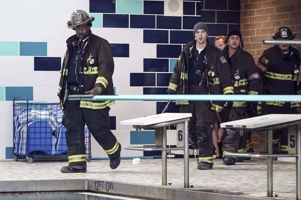 "CHICAGO FIRE -- ""Put White On Me"" Episode 617 -- Pictured: (l-r) Eamonn Walker as Wallace Boden, Jesse Spencer as Matthew Casey, Taylor Kinney as Kelly Severide -- (Photo by: Elizabeth Morris/NBC)"