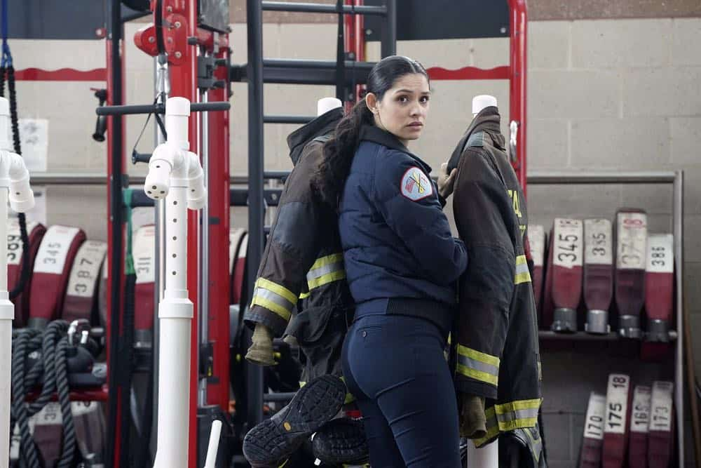 "CHICAGO FIRE -- ""Put White On Me"" Episode 617 -- Pictured: Miranda Rae Mayo as Stella Kidd -- (Photo by: Elizabeth Morris/NBC)"