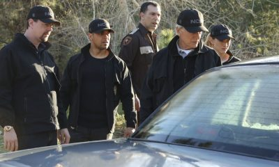 """Sight Unseen"" -- NCIS searches for a petty officer suspected of assault who escapes when the sheriff transporting him crashes into a lake. Also, Torres works closely with Annie Barth (Marilee Talkington), a key blind witness who heard vital evidence needed to solve the case, on the milestone 350th episode of NCIS, Tuesday, April 17 (8:00-9:00 PM, ET/PT) on the CBS Television Network. Pictured: Sean Murray, Wilmer Valderrama, Mark Harmon, Emily Wickersham. Photo: Patrick McElhenney/CBS ©2018 CBS Broadcasting, Inc. All Rights Reserved"