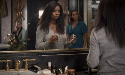 """EMPIRE: L-R: Taraji P. Henson, guest star Tasha Smith and guest star Vivica A. Fox in the """"Sweet Sorrow"""" episode of EMPIRE airing Wednesday, April 11 (8:00-9:00 PM ET/PT) on FOX. CR: Fox Broadcasting Co. CR: Chuck Hodes"""