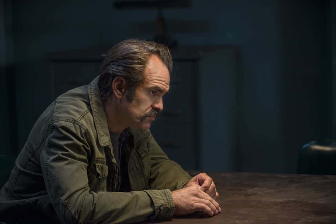 Steven Ogg as Simon - The Walking Dead _ Season 8, Episode 15 - Photo Credit: Gene Page/AMC