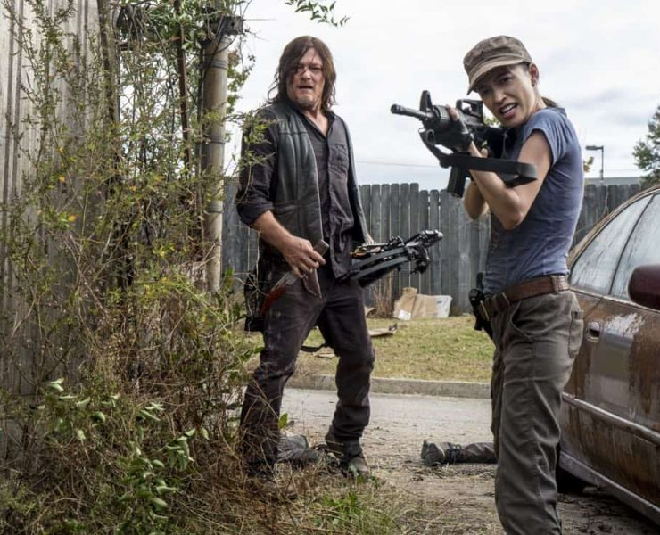 Norman Reedus as Daryl Dixon, Christian Serratos as Rosita Espinosa - The Walking Dead _ Season 8, Episode 15 - Photo Credit: Gene Page/AMC