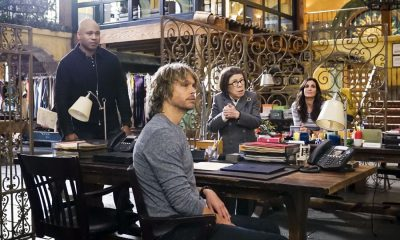 """Vendetta"" - Pictured: LL COOL J (Special Agent Sam Hanna), Eric Christian Olsen (LAPD Liaison Marty Deeks), Linda Hunt (Henrietta ""Hetty"" Lange) and Daniela Ruah (Special Agent Kensi Blye). Callen and Sam join forces with Anna Kolcheck (Bar Paly) and the Bureau of Alcohol, Tobacco and Firearms (ATF), when Arkady Kolcheck (Vyto Ruginis) warns NCIS that a notorious international weapons dealer has returned to the states. Also, the case requires Eric to go undercover as a bank IT technician, on NCIS: LOS ANGELES, Sunday, April 8 (9:00-10:00 PM, ET/PT) on the CBS Television Network. Photo: Monty Brinton/CBS ©2018 CBS Broadcasting, Inc. All Rights Reserved."