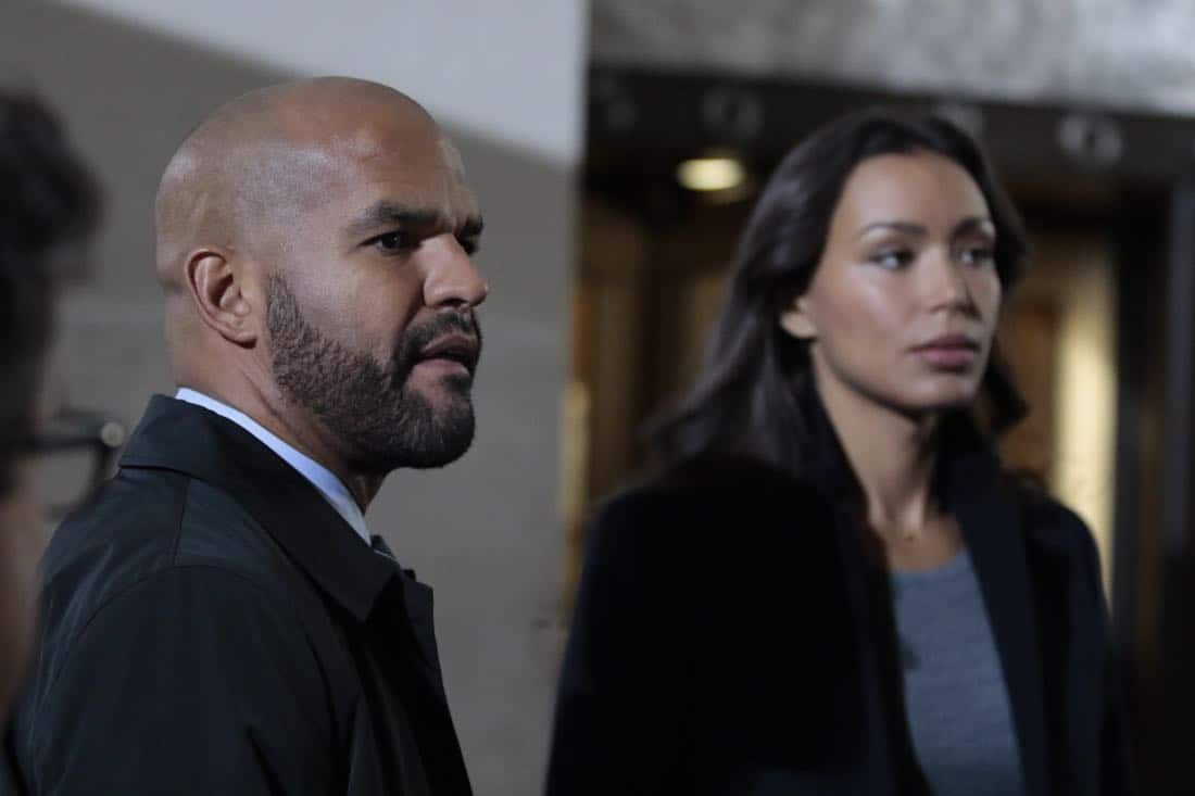 """DECEPTION - """"Masking"""" - When a church's stained glass window is stolen while a famous - yet elusive - street artist is painting a mural nearby, Cam and the team's investigation leads them to the criminal - and an unlikely accomplice - on ABC's """"Deception,"""" airing SUNDAY, APRIL 8 (10:01-11:00 p.m. EDT), on The ABC Television Network. (ABC/Giovanni Rufino) AMAURY NOLASCO, ILFENESH HADERA"""