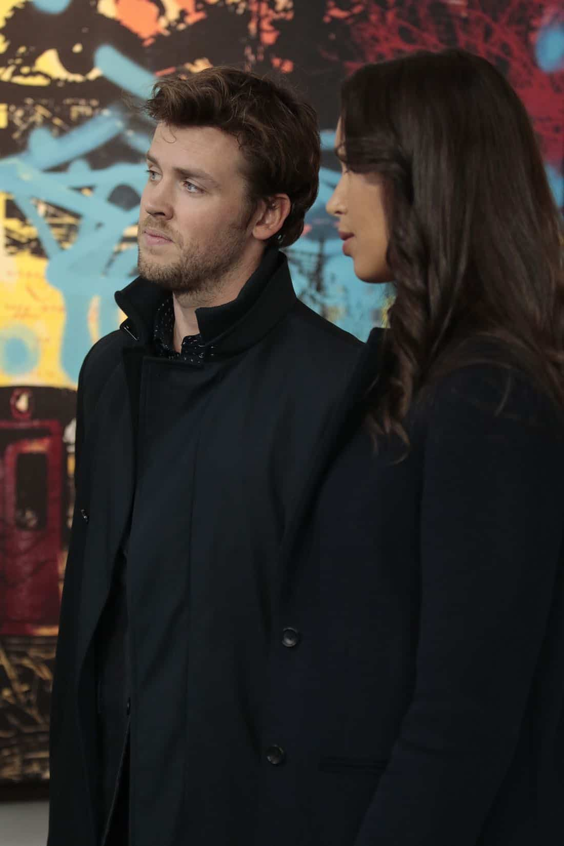 "DECEPTION - ""Masking"" - When a church's stained glass window is stolen while a famous - yet elusive - street artist is painting a mural nearby, Cam and the team's investigation leads them to the criminal - and an unlikely accomplice - on ABC's ""Deception,"" airing SUNDAY, APRIL 8 (10:01-11:00 p.m. EDT), on The ABC Television Network. (ABC/Giovanni Rufino) JACK CUTMORE-SCOTT"