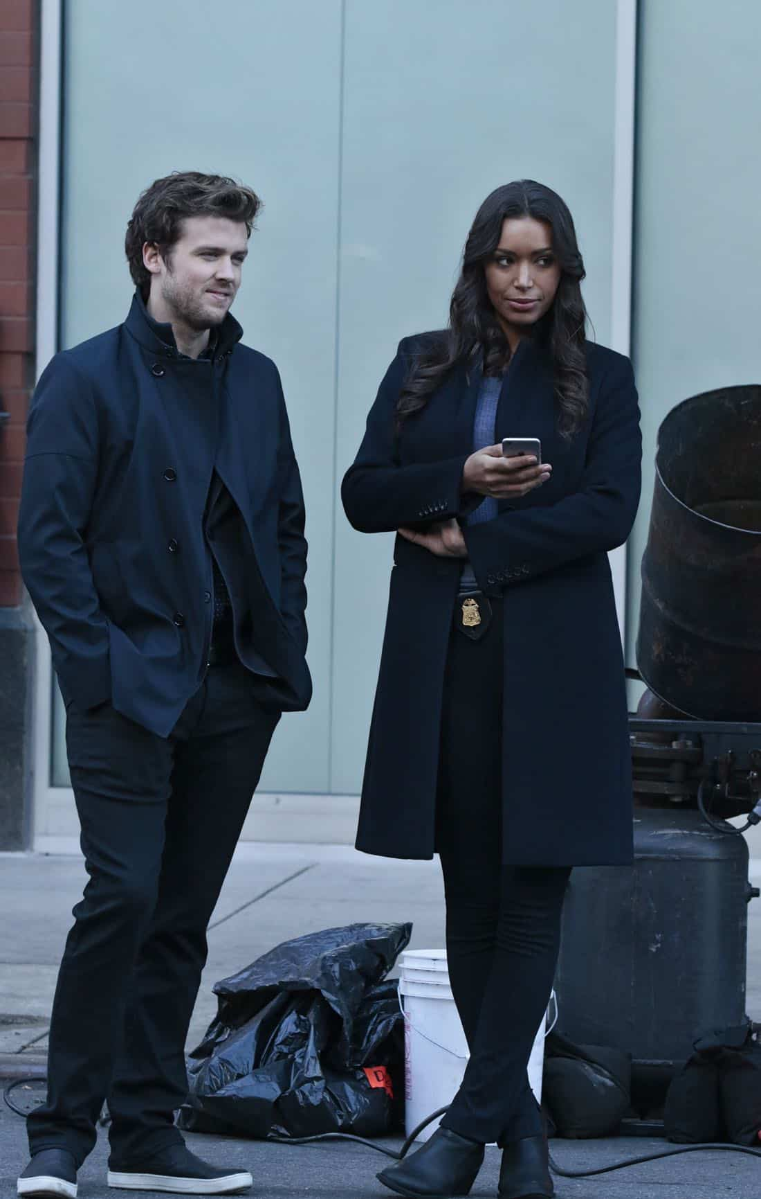 "DECEPTION - ""Masking"" - When a church's stained glass window is stolen while a famous - yet elusive - street artist is painting a mural nearby, Cam and the team's investigation leads them to the criminal - and an unlikely accomplice - on ABC's ""Deception,"" airing SUNDAY, APRIL 8 (10:01-11:00 p.m. EDT), on The ABC Television Network. (ABC/Giovanni Rufino) JACK CUTMORE-SCOTT, ILFENESH HADERA"