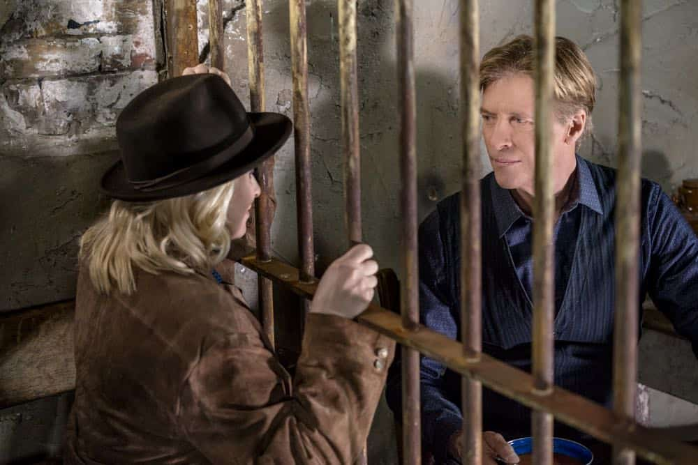 Bill is put in serious jeopardy while transporting AJ to face trial. Abigail tries to save the town from an investor who will hurt Hope Valley. Carson is faced with a life and death medical decision. Elizabeth tries to reunite a mother and her son.  Photo: Josie Bissett, Jack wagner  Credit: Copyright 2018 Crown Media United States LLC/Photographer: Ricardo Hubbs