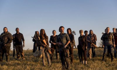 Cooper Andrews as Jerry, Khary Payton as Ezekiel, Danai Gurira as Michonne, Melissa McBride as Carol Peletier, Andrew Lincoln as Rick Grimes, Norman Reedus as Daryl Dixon, Christian Serratos as Rosita Espinosa - The Walking Dead _ Season 8, Episode 16 - Photo Credit: Gene Page/AMC