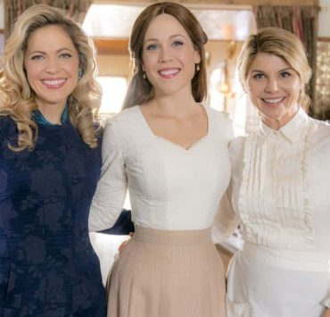 The widow of Lee's former silent partner arrives and gives Gowen a chance to run a company again, Elizabeth tutors an unexpected new student and the residents of Hope Valley conspire to pull off a surprise. Photo: Pascale Hutton, Erin Krakow, Lori Loughlin Credit: Copyright 2018 Crown Media United States LLC/Photographer: Ricardo Hubbs