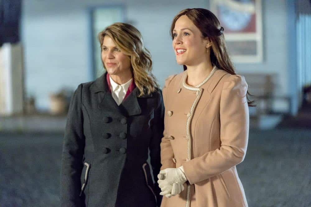 The widow of Lee's former silent partner arrives and gives Gowen a chance to run a company again, Elizabeth tutors an unexpected new student and the residents of Hope Valley conspire to pull off a surprise.  Photo: Lori Loughlin, Erin Krakow  Credit: Copyright 2018 Crown Media United States LLC/Photographer: Ricardo Hubbs