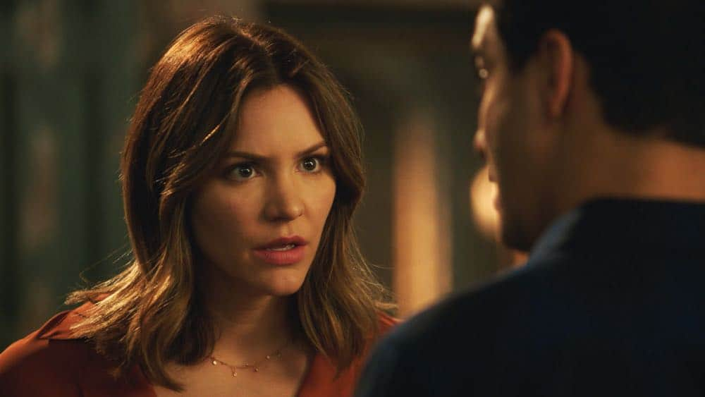 """""""A Lie in the Sand"""" -- Team Scorpion heads to Northeast Africa where they must carefully navigate a minefield in order to save the lives of local villagers. Also, Paige and Walter's relationship takes a shocking turn, and Toby and Happy make an important decision, on the fourth season finale of SCORPION, Monday, April 16 (10:00-11:00 PM, ET/PT) on the CBS Television Network. Pictured:   Katharine McPhee  Photo:  CBS ©2018 CBS Broadcasting, Inc. All Rights Reserved"""