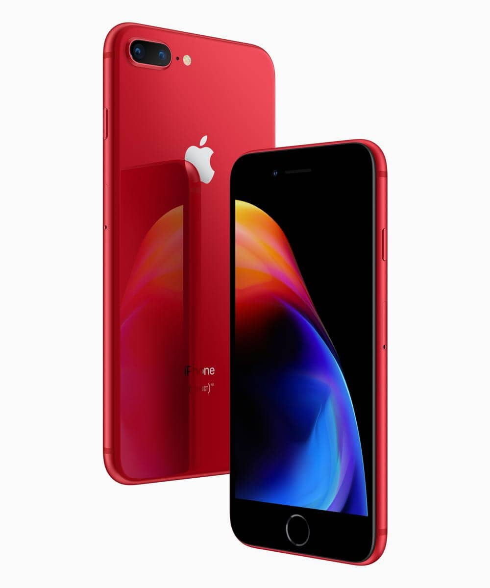 Apple launches iPhone 8, iPhone 8 Plus (PRODUCT) RED