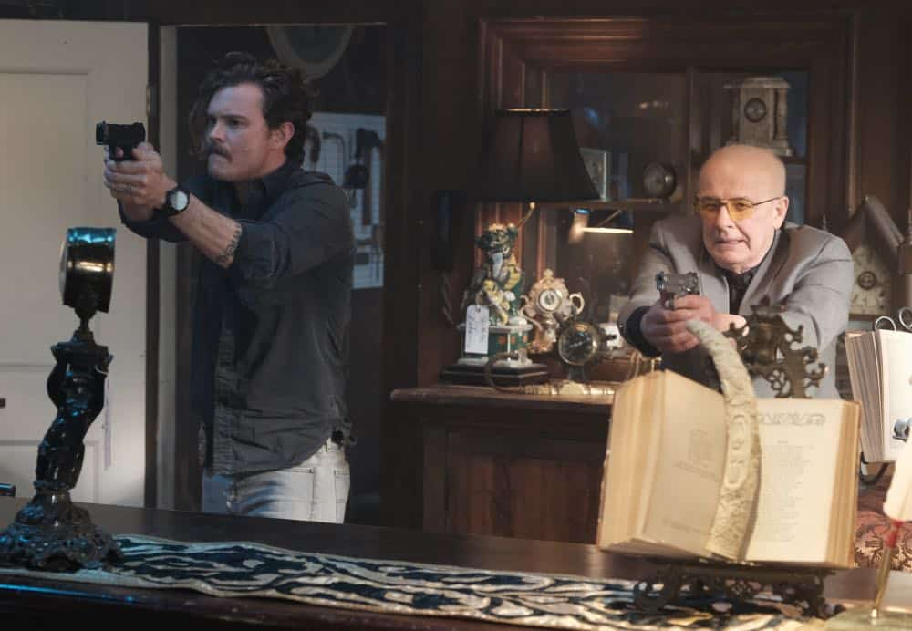 "LETHAL WEAPON: L-R: Clayne Crawford and guest star Jude Ciccolella in the ""Frankie Comes to Hollywood"" episode of LETHAL WEAPON airing Tuesday, April 10 (8:00-9:00 PM ET/PT) on FOX. ©2018 Fox Broadcasting Co. CR: Ray Mickshaw/FOX"