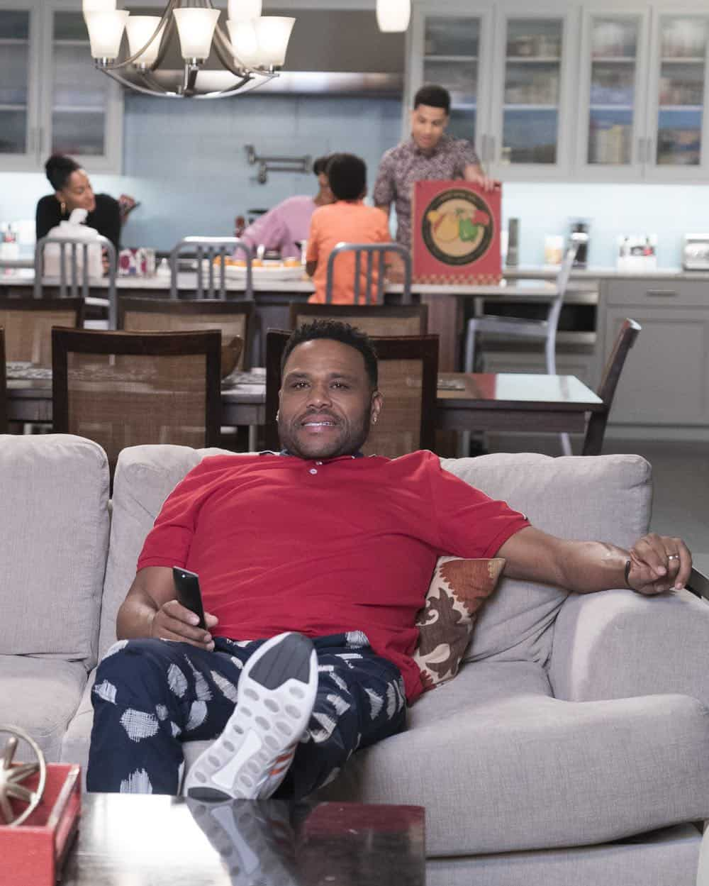 "BLACK-ISH - ""Dog Eat Dog World"" - The family is divided over the idea of getting a dog after Dre and Bow promise Jack they can get one after he gets Straight A's - and he does! Meanwhile, Bow's brother Johan is in town and he doesn't get the warm welcome he expects from Ruby, on ""black-ish,"" TUESDAY, APRIL 10 (9:00-9:30 p.m. EDT), on The ABC Television Network. (ABC/Eric McCandless) ANTHONY ANDERSON"
