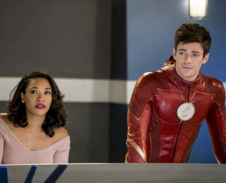 """The Flash -- """"Null and Annoyed"""" -- Image Number: FLA417b_0054b.jpg -- Pictured (L-R): Candice Patton as Iris West and Grant Gustin as Barry Allen/The Flash -- Photo: Shane Harvey/The CW -- © 2018 The CW Network, LLC. All rights reserved"""