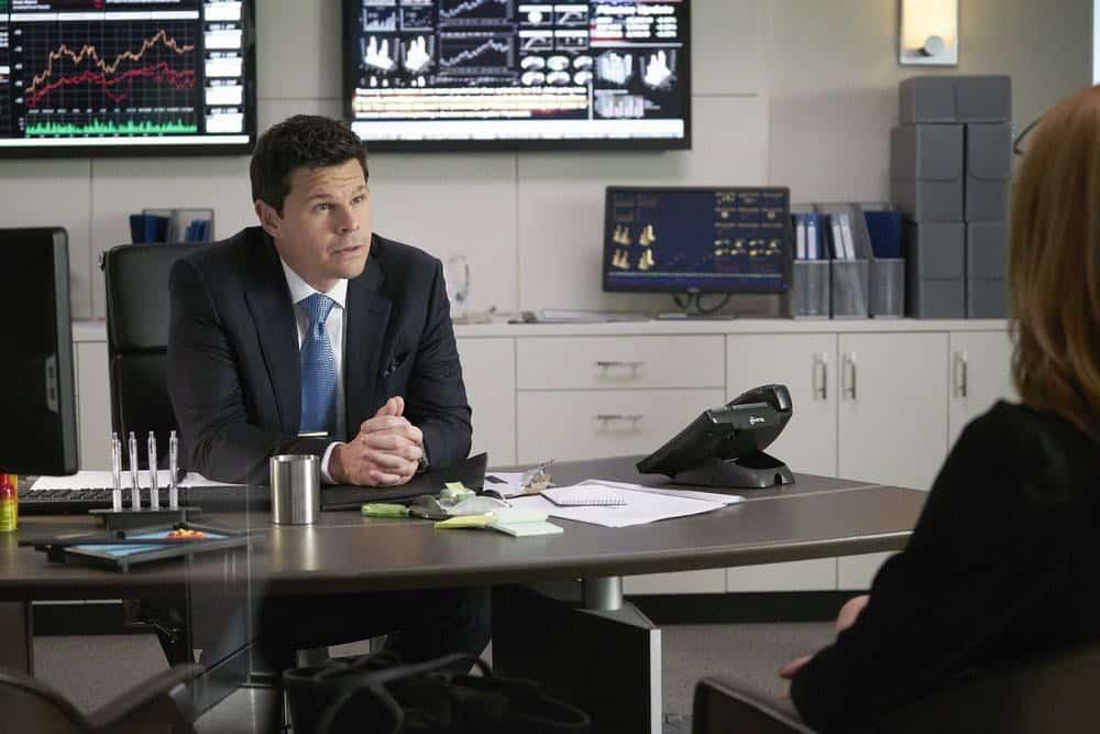 "SUITS -- ""Inevitable"" Episode 713 -- Pictured: Ian Reed Kesler as Stu Buzzini -- (Photo by: Ian Watson/USA Network)"