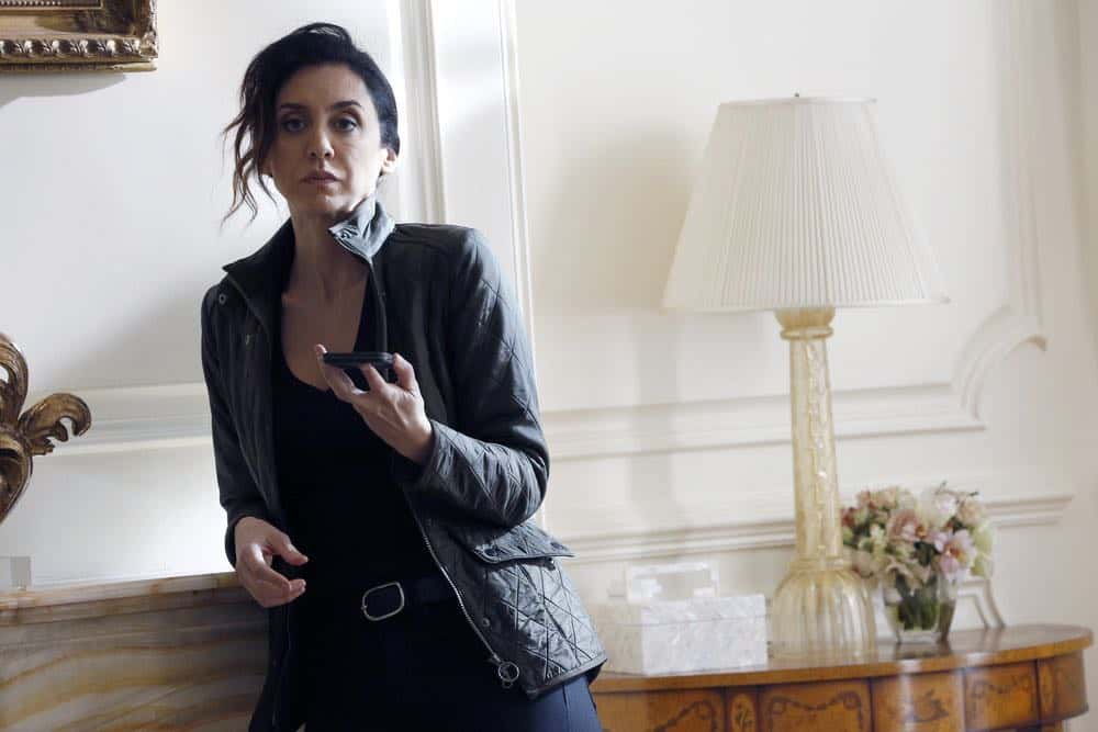 "THE BLACKLIST -- ""Zarak Mosadek (#23)"" Episode 518 -- Pictured: Mozhan Marno as Samar Navabi -- (Photo by: Will Hart/NBC)"