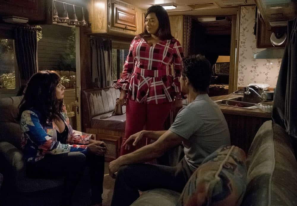 "STAR: L-R: Guest star La La Anthony, Queen Latifah and Benjamin Bratt in the ""Dreamers"" episode of STAR airing Wednesday, April 11 (9:00-10:00 PM ET/PT) on FOX. CR: Fox Broadcasting Co. CR: Wilford Harwood"