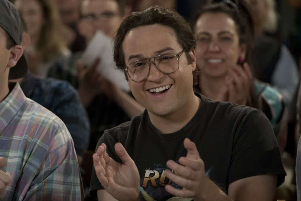 "THE GOLDBERGS - ""Flashy Little Flashdancer"" - After seeing ""Flashdance,"" Beverly decides to take up dance with the Frentas and is dejected when the family doesn't support her after telling them she is going to be in a recital. Meanwhile, when Emmy starts dating a cool guy, Adam thinks their friendship is in jeopardy, so he sets out to be cooler which backfires, on ""The Goldbergs,"" WEDNESDAY, APRIL 11 (8:00-8:30 p.m. EDT), on The ABC Television Network. (ABC/Byron Cohen) SEAN MARQUETTE"