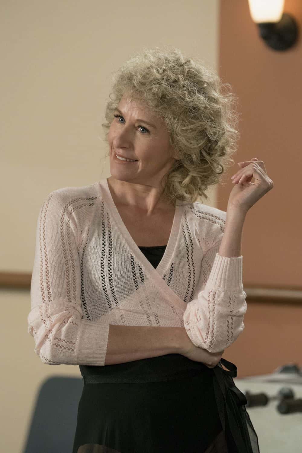 "THE GOLDBERGS - ""Flashy Little Flashdancer"" - After seeing ""Flashdance,"" Beverly decides to take up dance with the Frentas and is dejected when the family doesn't support her after telling them she is going to be in a recital. Meanwhile, when Emmy starts dating a cool guy, Adam thinks their friendship is in jeopardy, so he sets out to be cooler which backfires, on ""The Goldbergs,"" WEDNESDAY, APRIL 11 (8:00-8:30 p.m. EDT), on The ABC Television Network. (ABC/Byron Cohen) POPPIE HARRIS"
