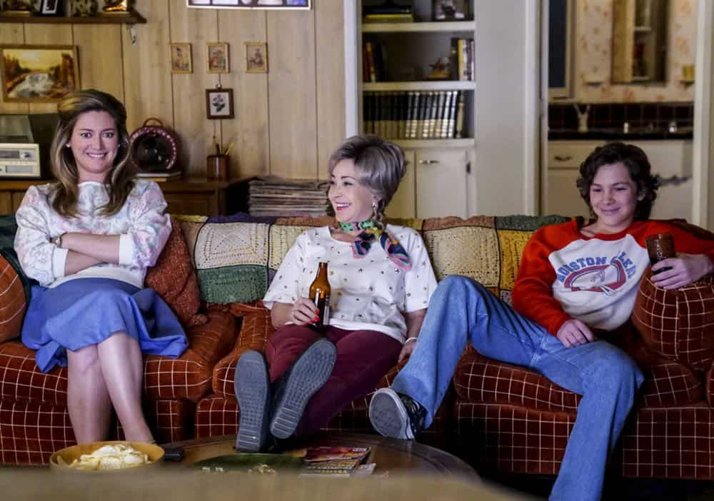 """A Mother, a Child, and a Blue Man's Backside"" - Pictured: Mary (Zoe Perry), Meemaw (Annie Potts) and Georgie (Montana Jordan). Mary bans Sheldon from reading a mature comic book, and Sheldon decides it's time to stop living under Mary's thumb, on YOUNG SHELDON, Thursday, April 12 (8:31-9:01 PM, ET/PT) on the CBS Television Network. Photo: Monty Brinton/CBS ©2018 CBS Broadcasting, Inc. All Rights Reserved."