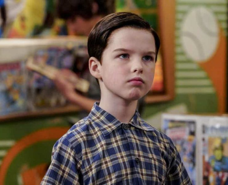 """A Mother, a Child, and a Blue Man's Backside"" - Pictured: Sheldon (Iain Armitage). Mary bans Sheldon from reading a mature comic book, and Sheldon decides it's time to stop living under Mary's thumb, on YOUNG SHELDON, Thursday, April 12 (8:31-9:01 PM, ET/PT) on the CBS Television Network. Photo: Bill Inoshita/CBS ©2018 CBS Broadcasting, Inc. All Rights Reserved."