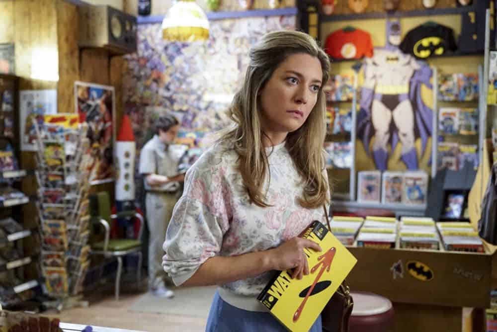 """A Mother, a Child, and a Blue Man's Backside"" - Pictured: Mary (Zoe Perry). Mary bans Sheldon from reading a mature comic book, and Sheldon decides it's time to stop living under Mary's thumb, on YOUNG SHELDON, Thursday, April 12 (8:31-9:01 PM, ET/PT) on the CBS Television Network. Photo: Bill Inoshita/CBS ©2018 CBS Broadcasting, Inc. All Rights Reserved."